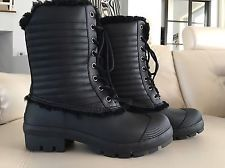 Hunter Leather And Sherling Winter Boots Size 8m/9f Us