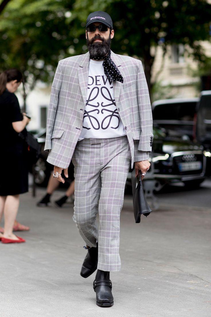 On the street at Paris Men's Fashion Week. Photo: Imaxtree