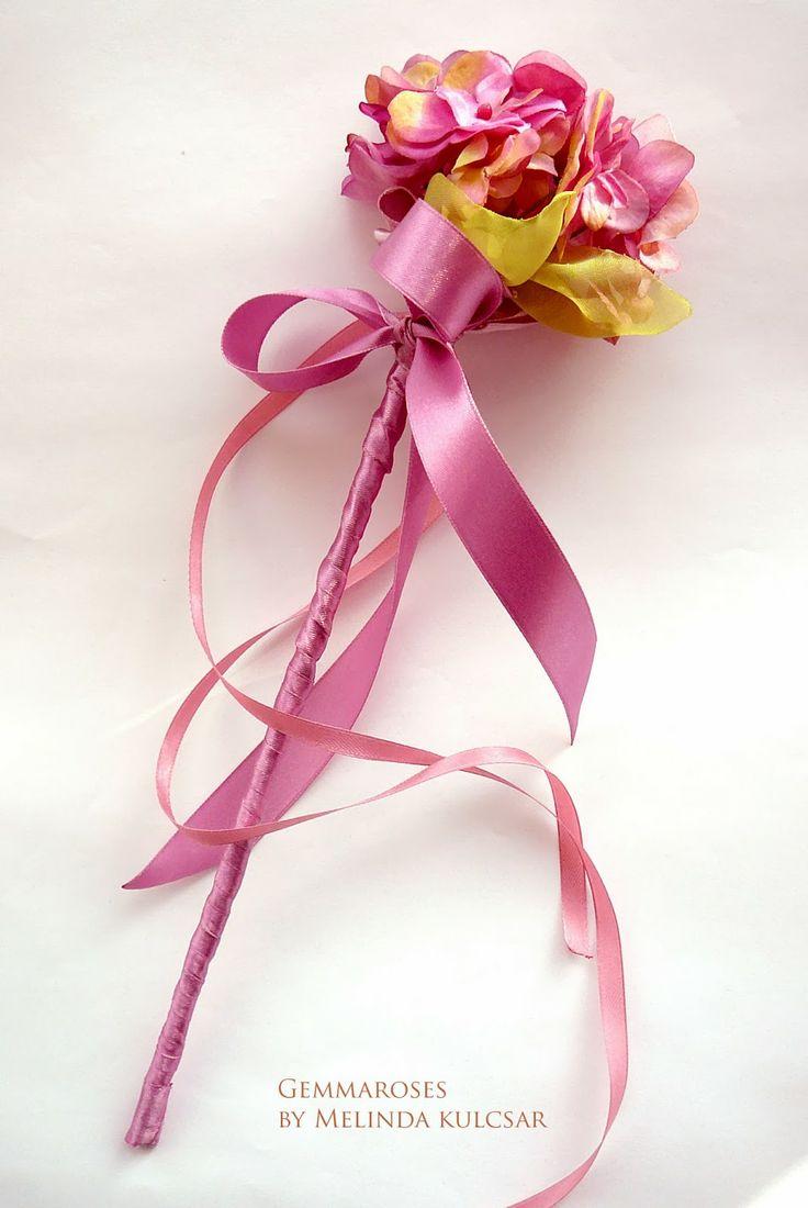 melinda gemmaroses  Flower wand for girls