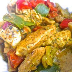 RECETA FITNESS/ Pollo al curry amarillo fit by Jessica