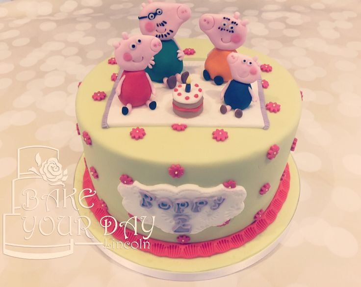 Peppa Pig Kids Party Cake