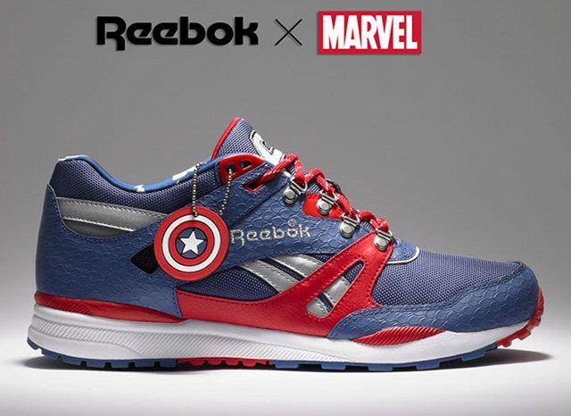 Reebox x Marvel. Captain America.: Running Shoes, Captainamerica, Marvel Shoes, Marvel Comic, Captain America, Superheroes, Emma Frostings, Super Heroes, Sneakers