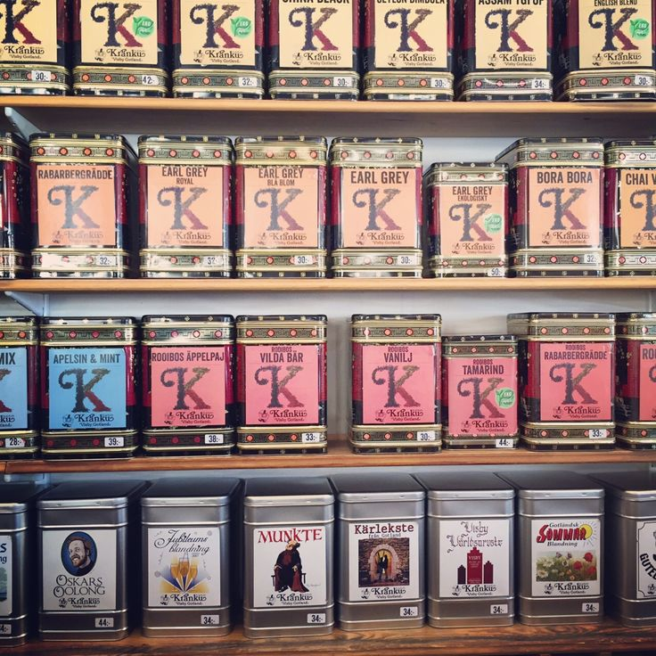 Tea-and coffeeshop Kränku in Visby sell there own blends of tea and coffee of course– Gotlandstips.se