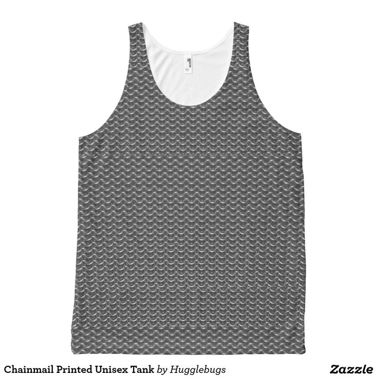 Faux Chainmail Printed Unisex Tank
