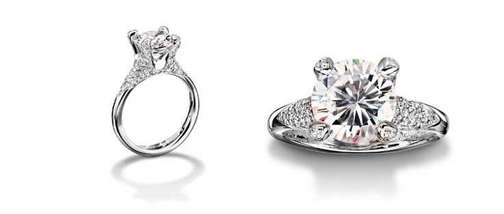 Engagement Rings: High Quality Platinum Engagement Ring by Furrer Jacot