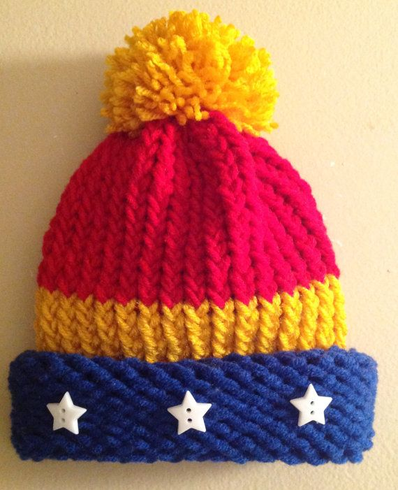 Wonder Woman Hat Superhero Inspired Hat by JilleBeansCreations