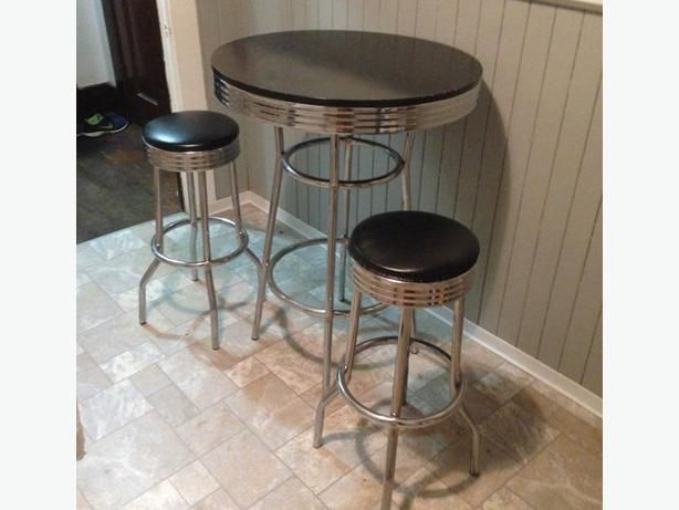 bar table and stools bar tables 1950s diner retro furniture 3 piece