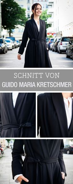 "Nähanleitung und Schnittmuster für einen Mantel, Schnittmuster aus ""Geschickt eingefädelt"" mit Guido Maria Kretschmer / diy sewing pattern for a coat via DaWanda.com"