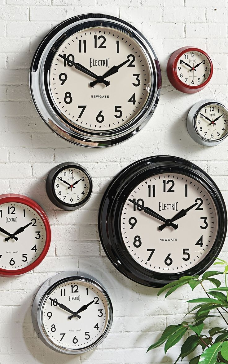 23 best clocks watches images on pinterest ceilings centre wall clock 50s electric by newgate clocks vintage retro station 3 colours amipublicfo Images
