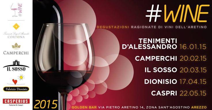 Venerdì 20 febbraio vi aspettiamo al Golden Bar di #Arezzo! Ottimo #vino, buona #compagnia e tanto #divertimento, direi che sia il tris perfetto!  On Friday 20th meet us at Golden Bar, in Arezzo! Great wine, good #company and so much #fun, I'd say that this is the perfect trio!