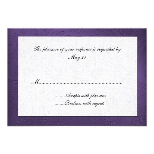 1000+ Ideas About Wedding Response Cards On Pinterest