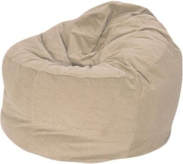 Sand / Cream Corduroy Traditional Bean Bag Chair