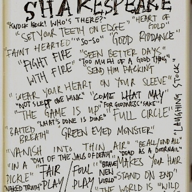 shakespeare quotes used in modern movies William shakespeare was  but shakespeare used  a wave of new critical approaches replaced modernism and paved the way for post-modern studies of shakespeare.