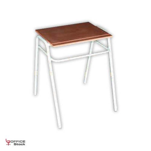 Single Stackable School Desk with Microns Grey Coating