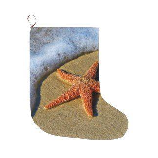 Beachy Christmas Stocking Orange Starfish