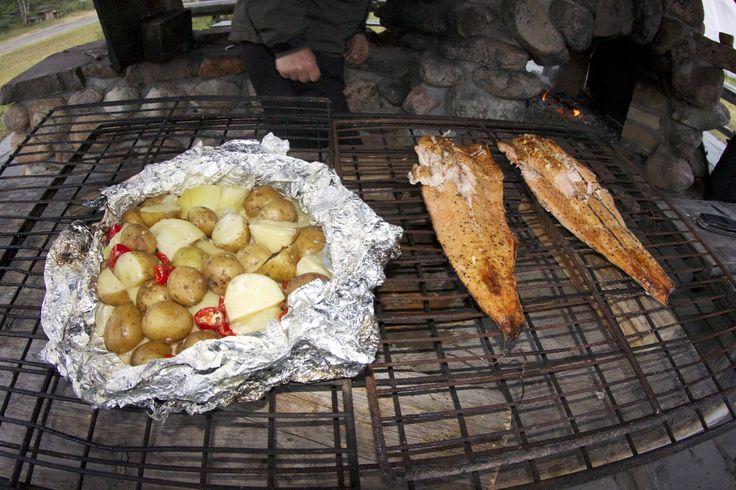 Potatos and salmon
