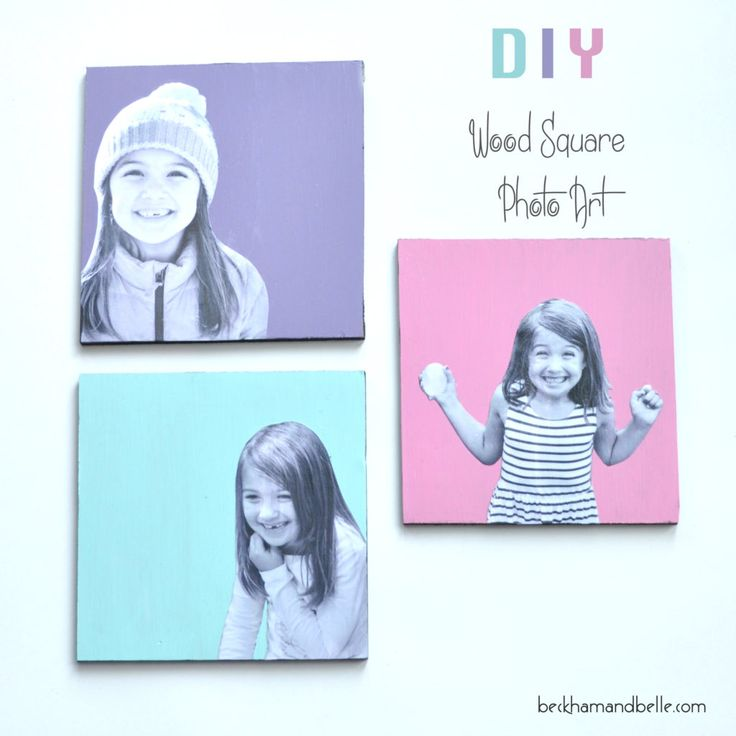 diy wood square photo art