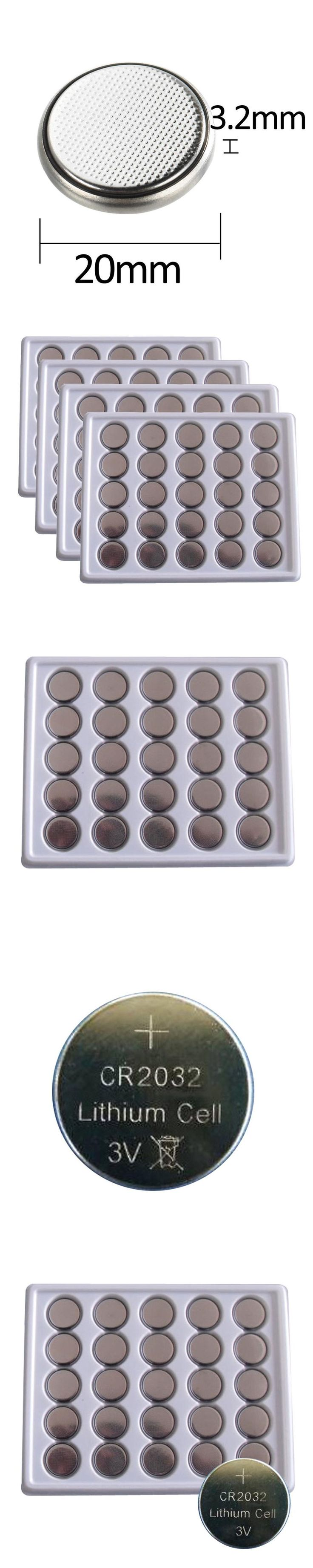 50Pcs CR2032 3V Cell Button Lithium Battery DL2032 BR2032 ECR2032 CR2032 button cell Type Currency Batteries For Watches watches