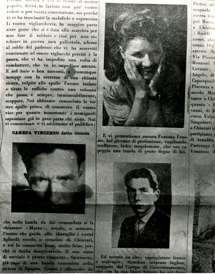 """Un particolare della copertina del settimanale fascista """"Fiamma Repubblicana"""" del 15 ottobre 1944."""