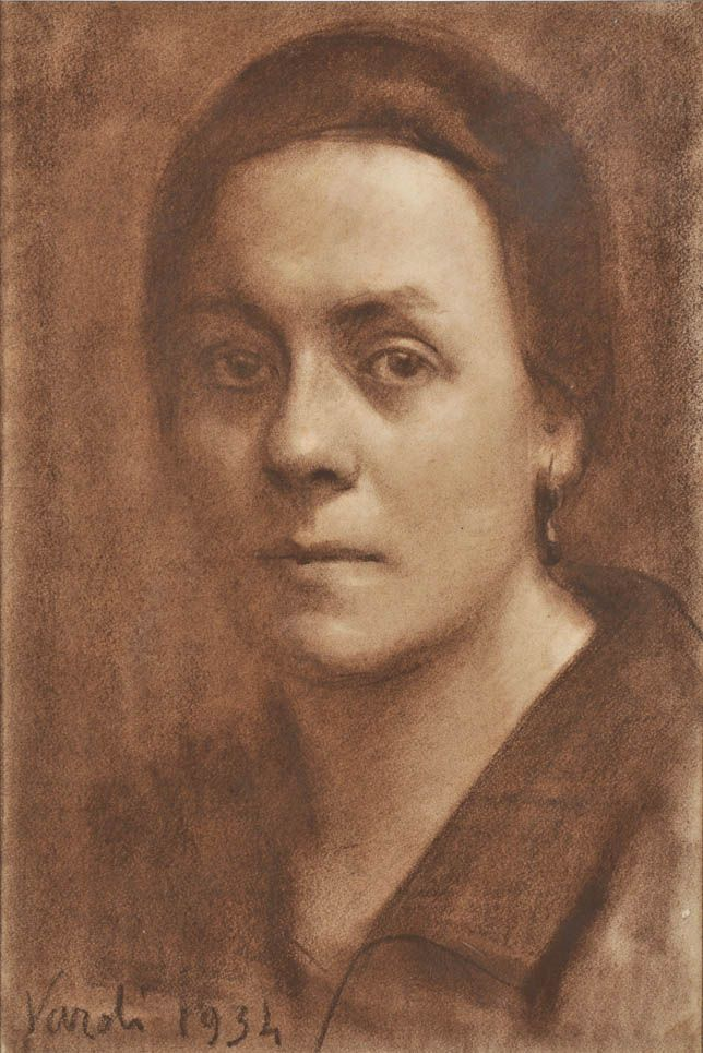 Luigfi Varoli/Ritratto di Caterina Cortesi/1934/carboncino su carta, cm 35x23/Faenza collezione privata