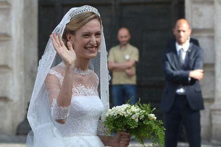Mariage d'Amedeo: les premières images d'Elisabetta en robe de mariée (photos)
