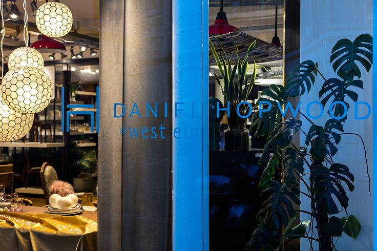 Daniel Hopwood designs a luxurious interior shop window for West Elm during London Design Week. Designs and interview feature on www.martynwhitedesigns.com