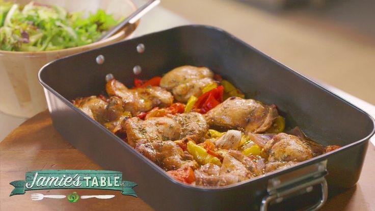 Jamie's Hit n Run Traybaked Chicken Recipe : Jamie's Table #Woolworths #Recipe #Fresh #Food #JamieOliver #Chicken #FreshFoodPeople #FreshIdeas