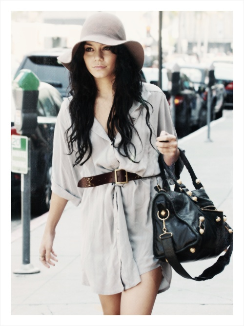 Vanessa Hudgens Style Tumblr My Style If I Was Rich Pinterest Floppy Hats Shirtdress