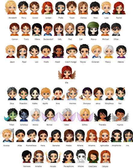 Percy Jackson and heroes of Olympus  characters