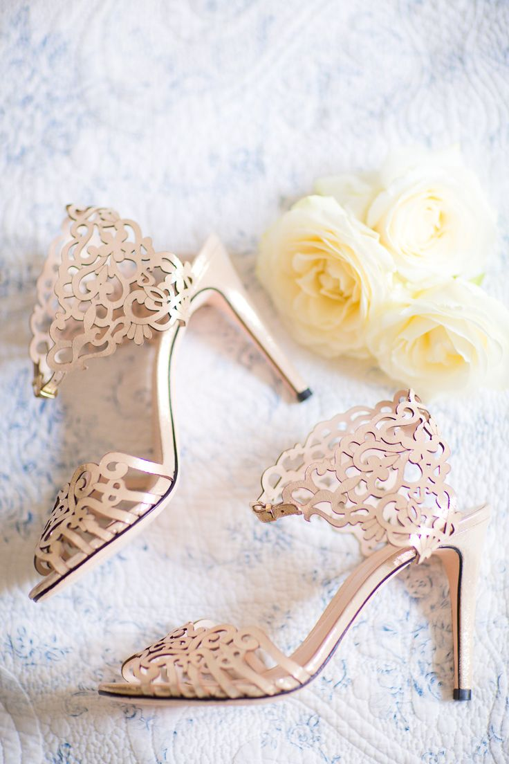 Lovely bridal shoes: http://www.stylemepretty.com/destination-weddings/2015/03/06/romantic-elopement-in-paris/ | Photography: Le Secret D'Audrey - lesecretdaudrey.com