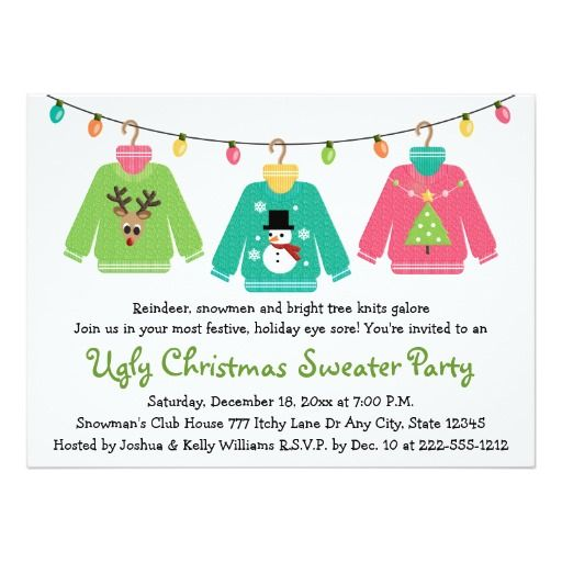 293 best christmas party invitations images on pinterest, Party invitations