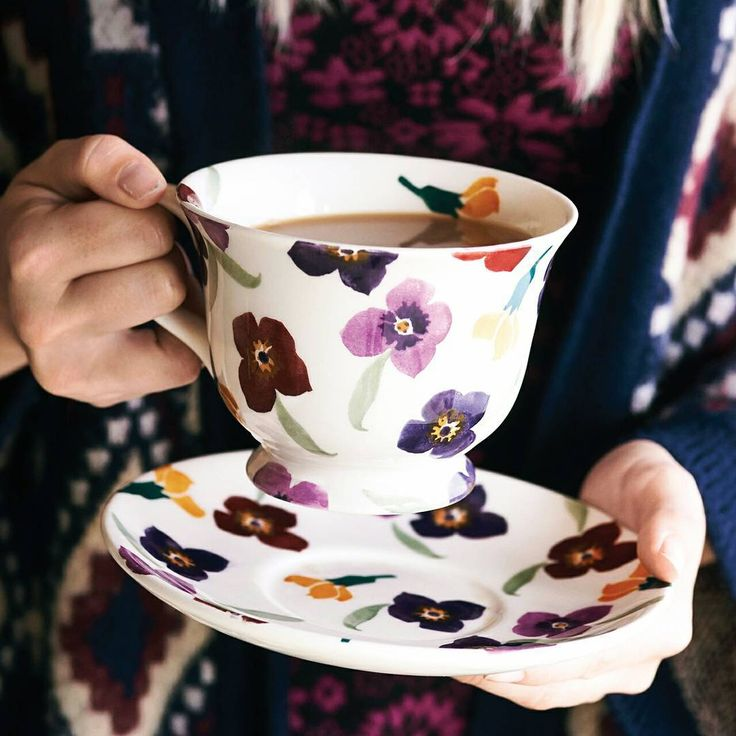 Emma Bridgewater Pottery 'Wallflower' Mug. Love the sizes of these mugs!!!