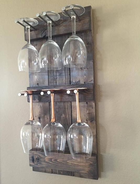 Rustikale Weinglas Halter | Wein Glas Rack | Wein Glas-Display