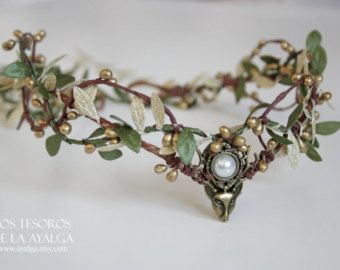 Woodland elf tiara elven headpiece fairy crown