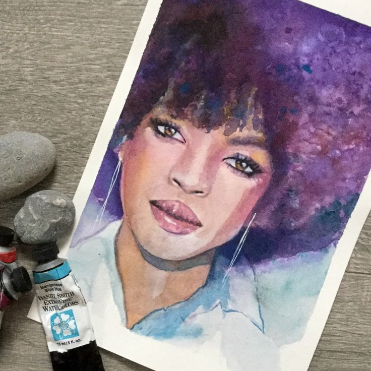 Daily painting of Lauryn Hill https://www.etsy.com/ca/listing/505572507/original-watercolour-painting-of-lauryn
