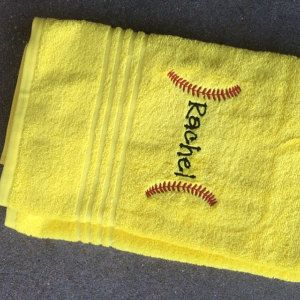 Buyer photo Leah using Original Stitches Baseball Stitches embroidery design.