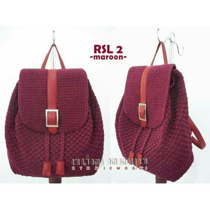 #crochetbag #backpack IG: kanayubag_store