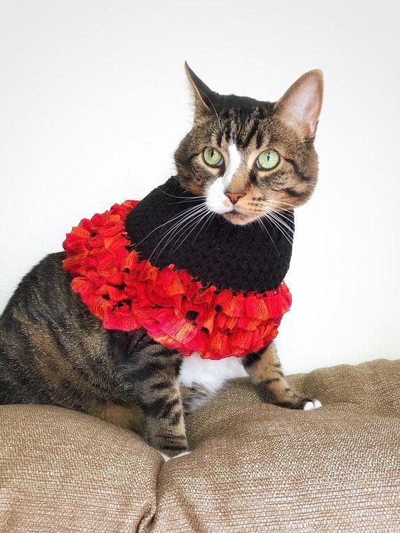 Crochet Cat Poncho Small Dog Cape Unique Handmade Black Orange Etsy Crochet Cat Crochet Dog Crochet Halloween Costume