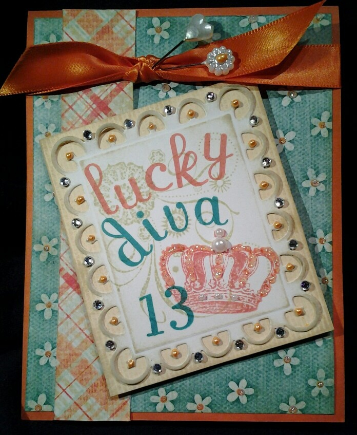 Birthday Card For A 13 Year Old Girl That Loves Bling Made By Christa Trude Card Making Birthday Inspirational Cards Cards