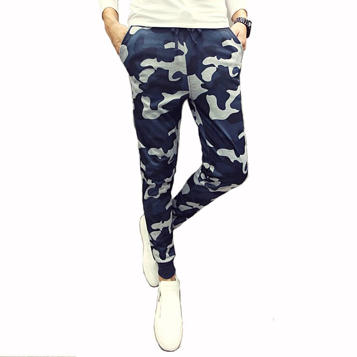 Mens Joggers Pants New Hip Hop2016 Men Pants Camouflage Pencil Pants Skinny  Sweatpants Trousers Man Camo