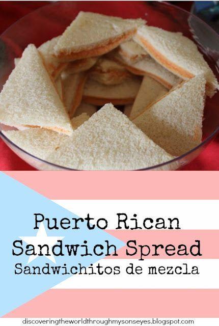 Discovering the World Through My Son's Eyes : Puerto Rican Sandwich Spread (Sandwichitos de mezcla)