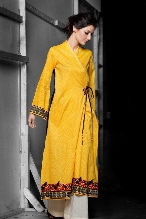 Angrakha Kurti. Read more http://fashionpro.me/23-types-of-kurti-designs