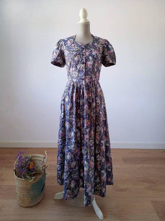 Vintage 1980s Laura Ashley Dress Vintage Laura Ashley Dress Vintage 80s Dress Uk 10 Us 8 Vintage Dress 80s Dresses Laura Ashley Dress