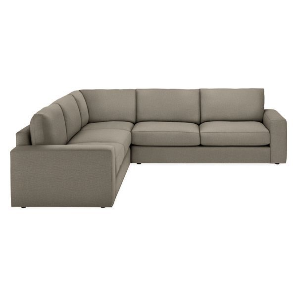 Room Board Beckett 114x114 Three Piece Sectional Sectional Custom Sectional Deep Seating