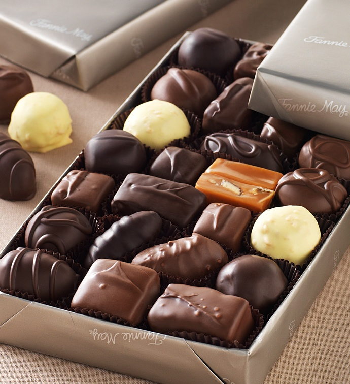 9 best fannie may images on pinterest chocolate candies chocolate this essential assortment of fine fannie may chocolates includes real milk and dark chocolate covered buttercreams rich nougats crunchy toffees and more fandeluxe Image collections