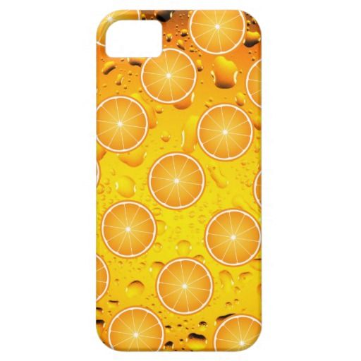 Cool Juicy Orange fruit slices with water drops iPhone 5 Case
