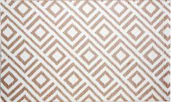 b.b.begonia Malibu 5-Feet-by-8-Feet Polypropylene Indoor-Outdoor Area Rug, Beige and White