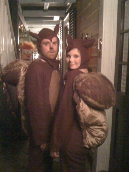 These are the squirrel costumes i made last year!   Yay for halloween costumes! They are the best!
