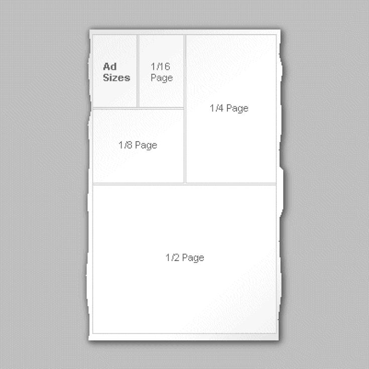 Understanding Advertising Rate Cards: Advertising Page Layout With Ad Sizes