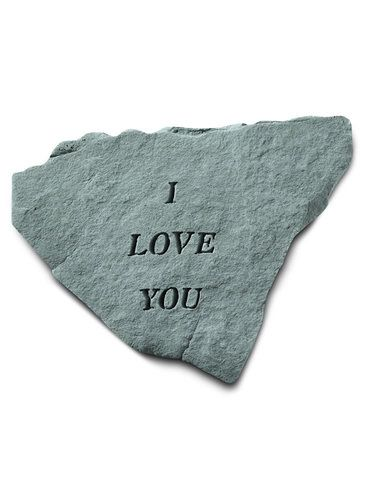Indoor/Outdoor Wall Plaque/Statue Stone: Kayberry: I Love You